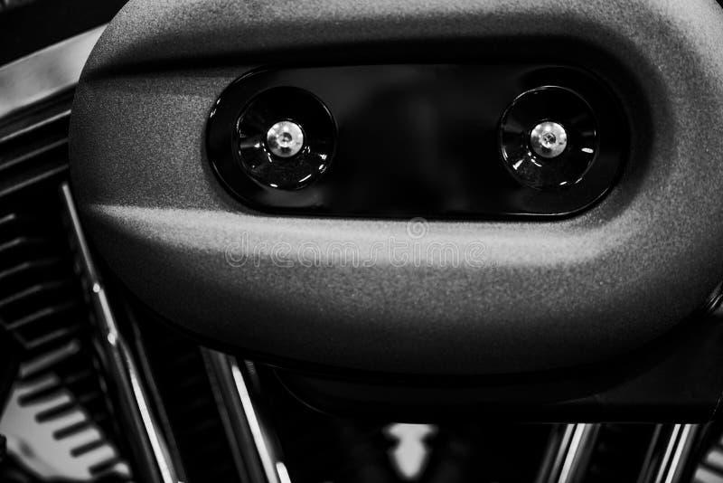 Detalhe do motor da motocicleta imagem de stock royalty free