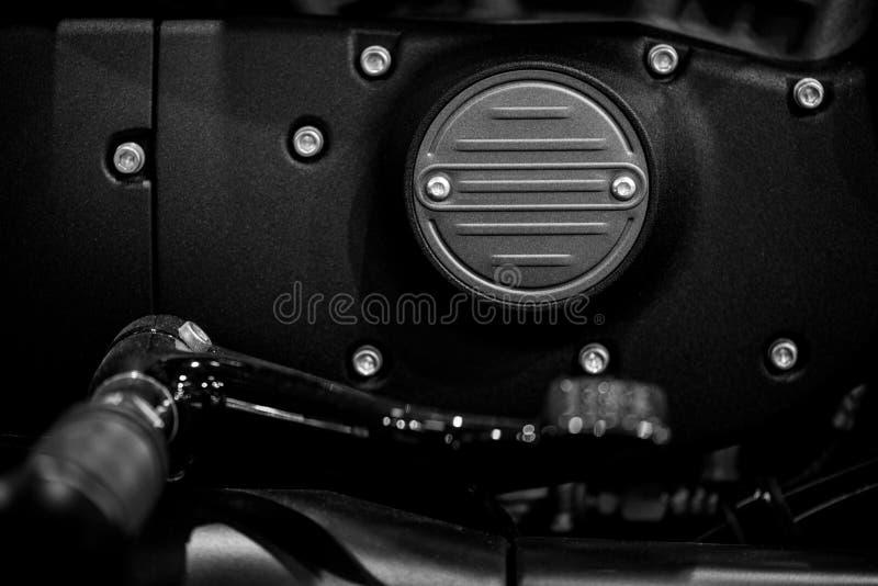Detalhe do motor da motocicleta foto de stock royalty free