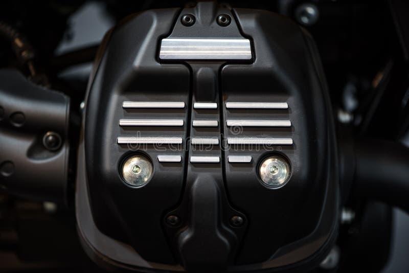 Detalhe do motor da motocicleta foto de stock