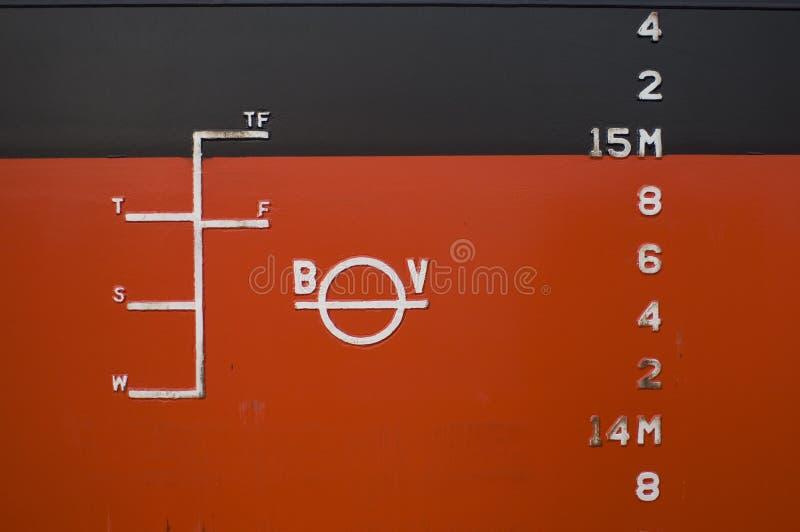 Detalhe do navio de recipiente imagem de stock