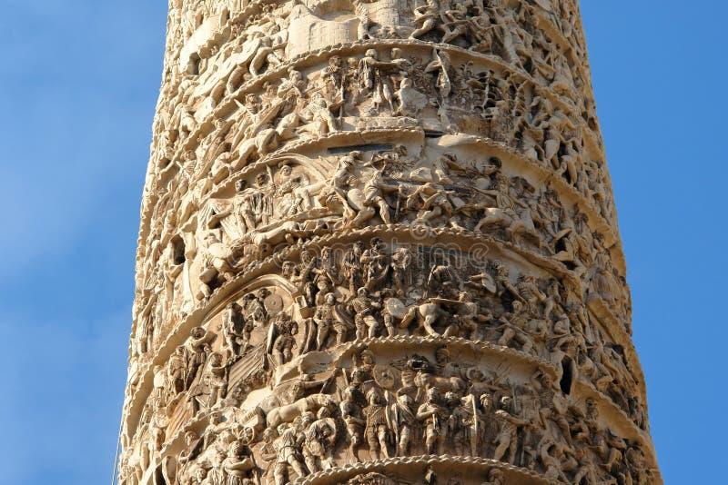 Detalhe do Obelisk de Colonna Roma da praça foto de stock
