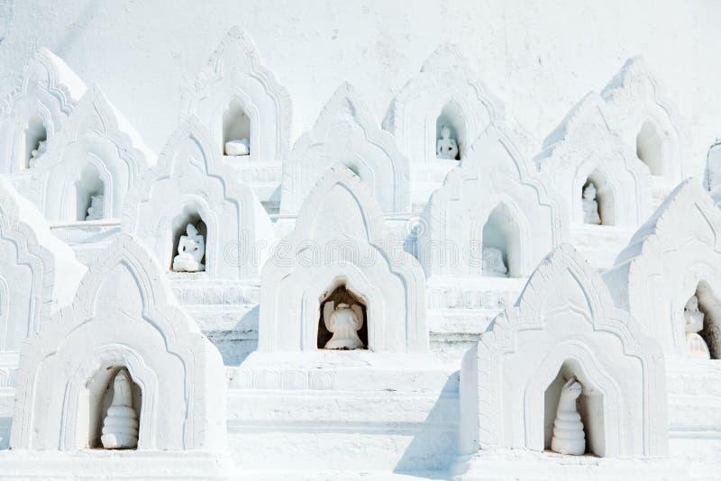 Detalhe do pagode de Hsinbyume, Mingun, Myanmar imagens de stock royalty free