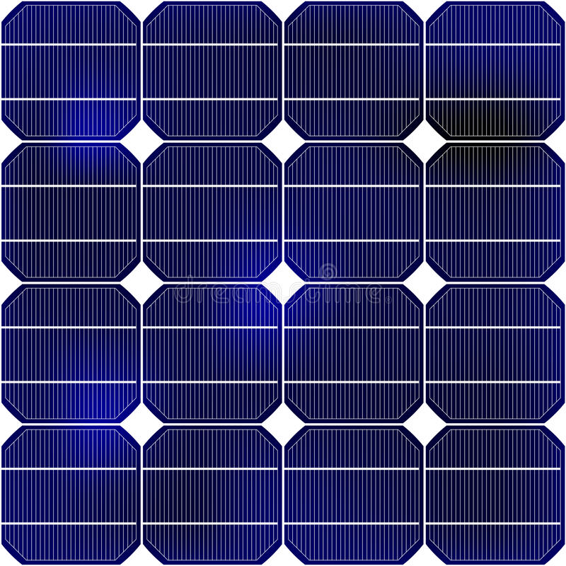 Detalhe do painel solar fotos de stock royalty free