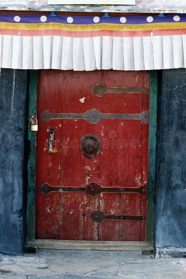 Detalhe do palácio de Tibet Potala fotografia de stock