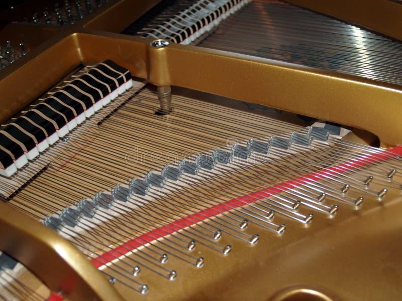 Detalhe do piano fotografia de stock