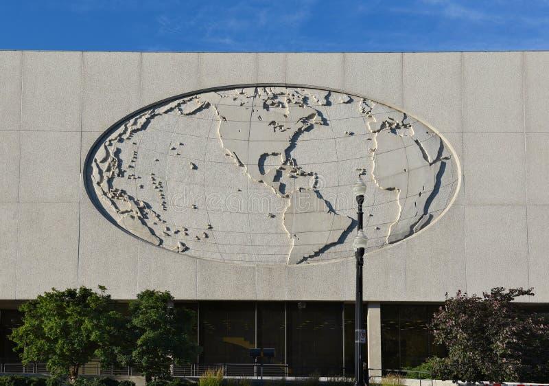 Detalhe do prédio de escritórios de LDS imagens de stock
