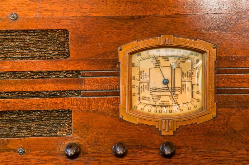 Detalhe do rádio da câmara de ar do vintage fotos de stock