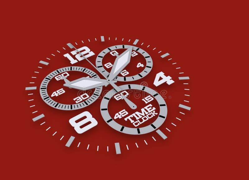 Detalhe do relógio em 3D azul ilustração stock