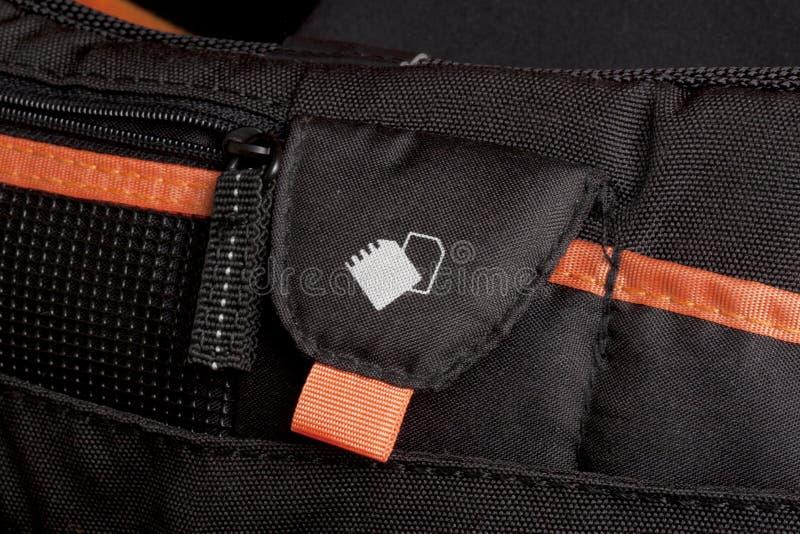 Detalhe do saco da câmera fotos de stock royalty free