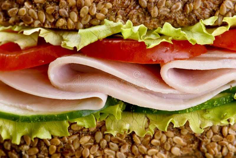 Detalhe do sanduíche fotografia de stock