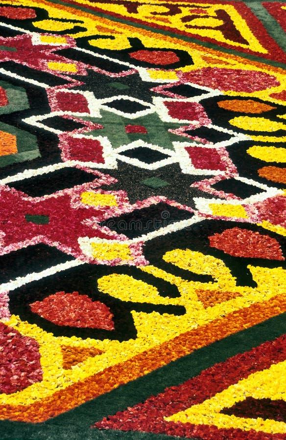 Detalhe do tapete da flor fotos de stock royalty free