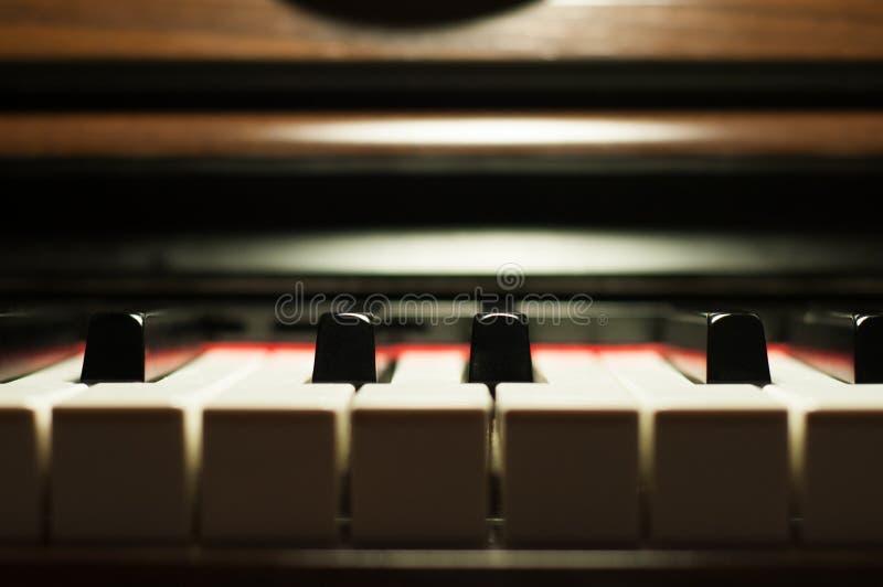 Detalhe do teclado de piano imagem de stock