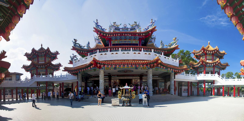 Detalhe do templo chinês Kuala Lumpur foto de stock royalty free