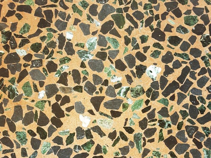 Detalhe do terra?o de m?rmore que pavimenta a textura do fundo na Bolonha, It?lia fotos de stock
