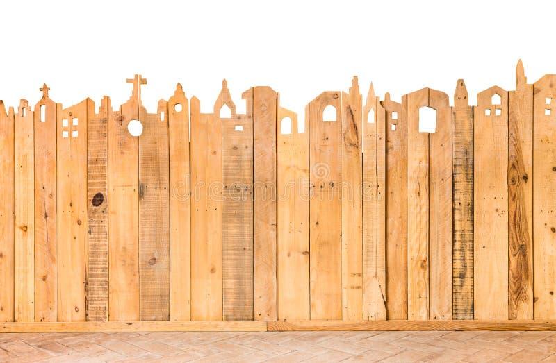 Detalhe do teste padrão de textura da madeira da cerca fotos de stock