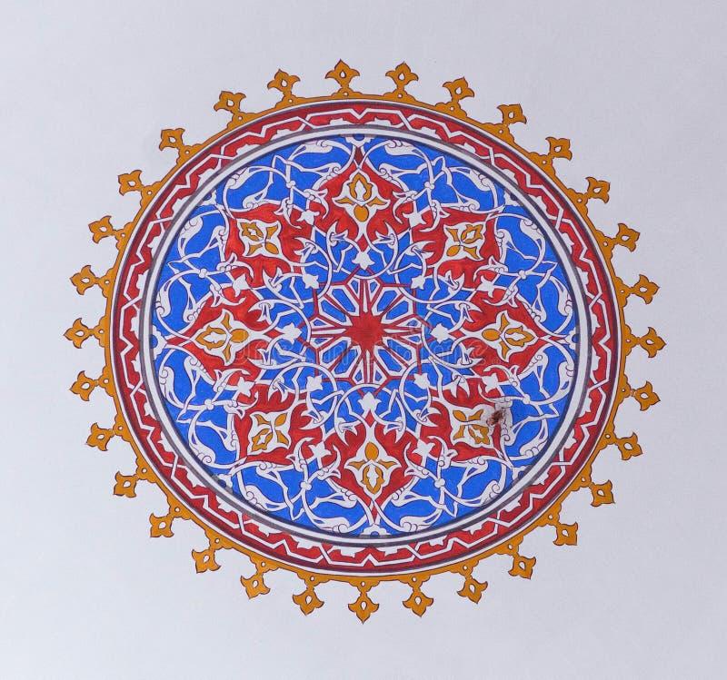 Detalhe do teto na mesquita da sultão de Mihrimah em Istambul, Turquia fotografia de stock royalty free