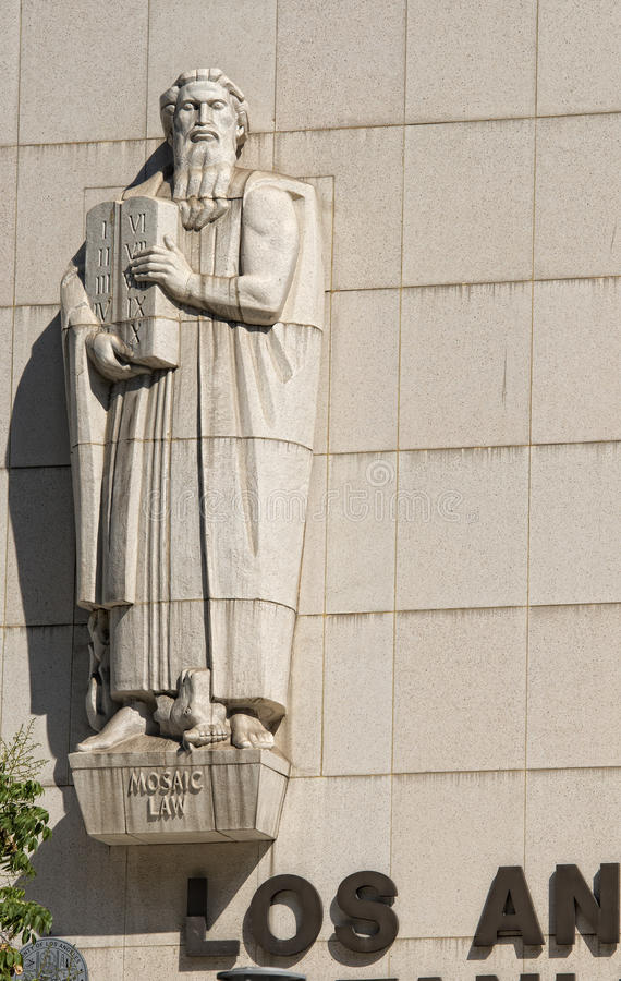 Detalhe do Tribunal Superior de Los Angeles imagens de stock