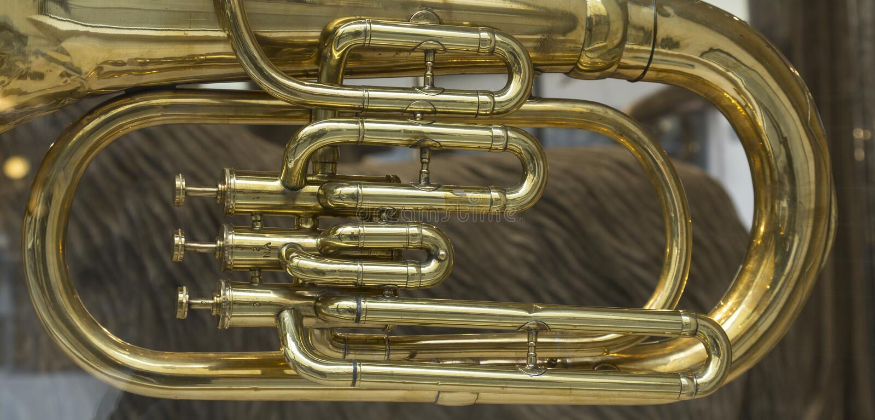 Detalhe do tubo musical imagens de stock