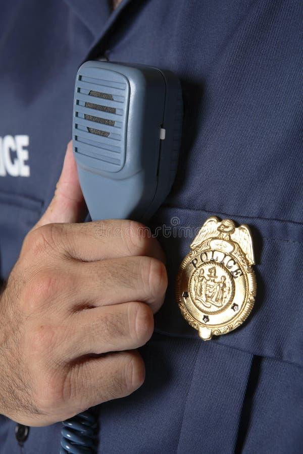Detalhe do uniforme da polícia fotos de stock royalty free