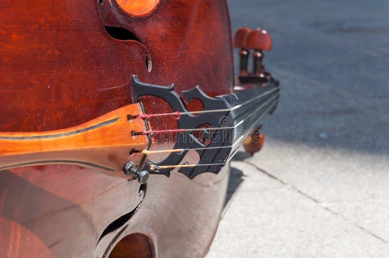 Detalhe do violoncelo fotografia de stock royalty free