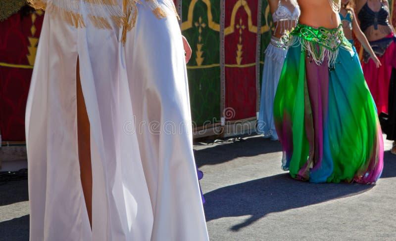 Detalhe dos dançarinos de barriga imagens de stock royalty free