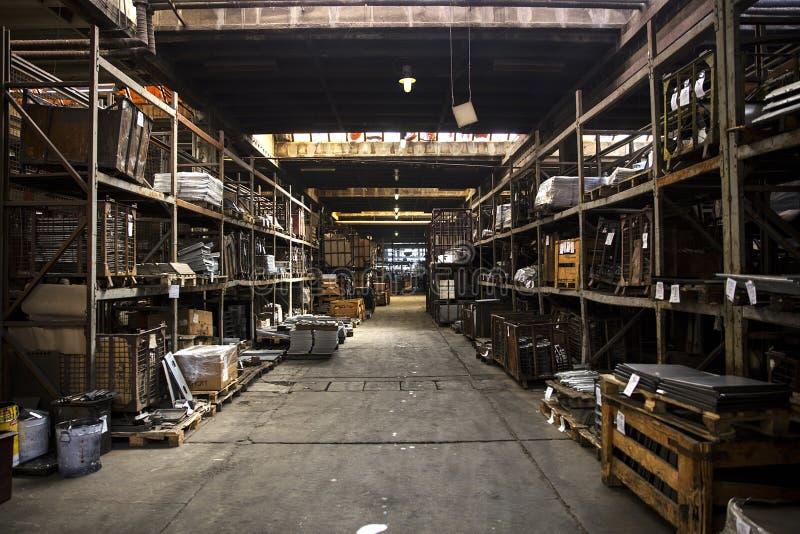 Detalhe dos fogões na fábrica imagens de stock royalty free