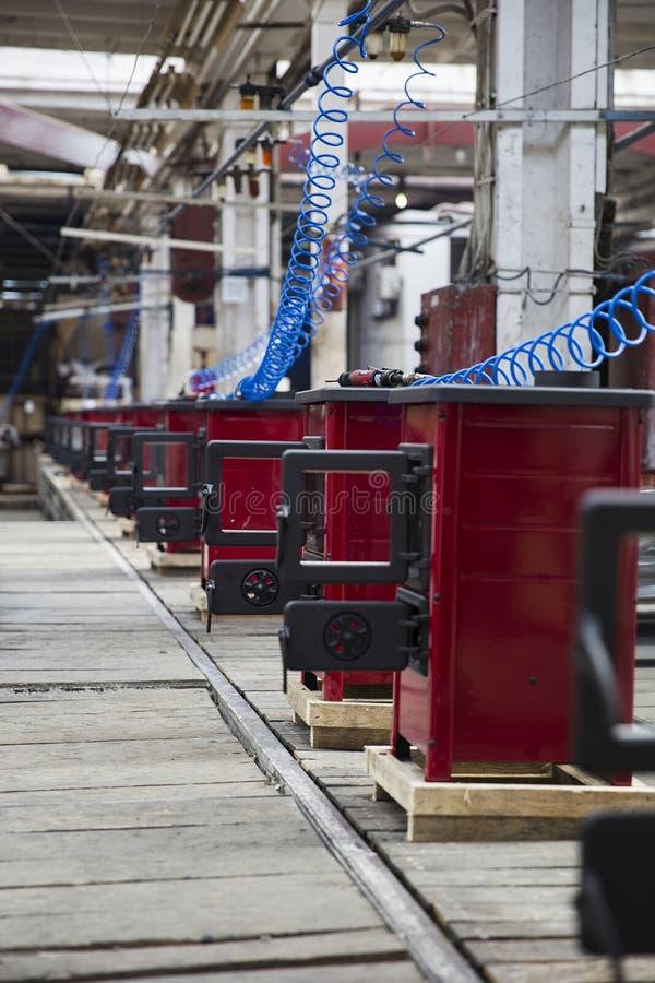 Detalhe dos fogões na fábrica fotos de stock royalty free