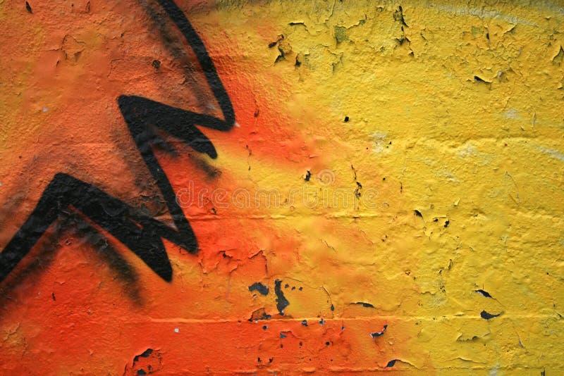 Detalhe Dos Grafittis Fotografia de Stock