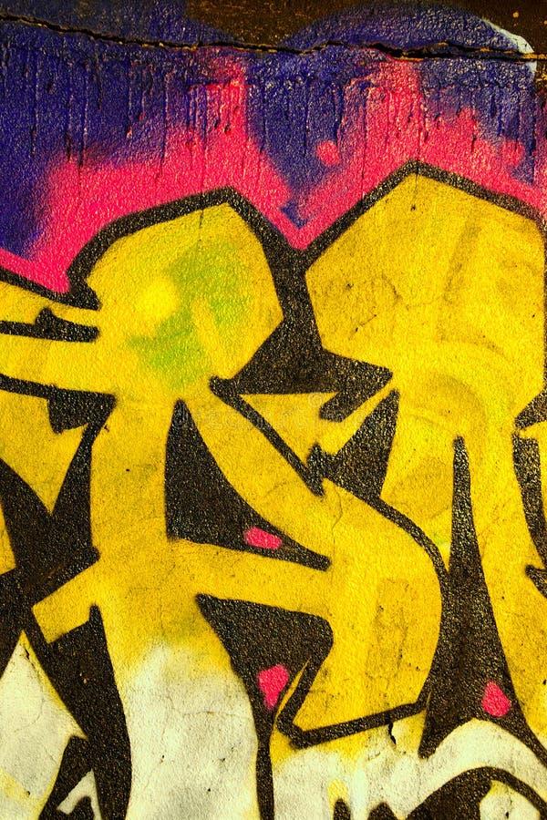 Detalhe dos grafittis imagem de stock