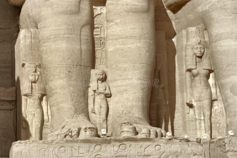 Detalhe dos templos de Abu Simbel foto de stock