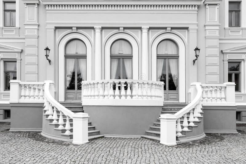 Detalhe exterior de construção neo do renascimento imagens de stock royalty free
