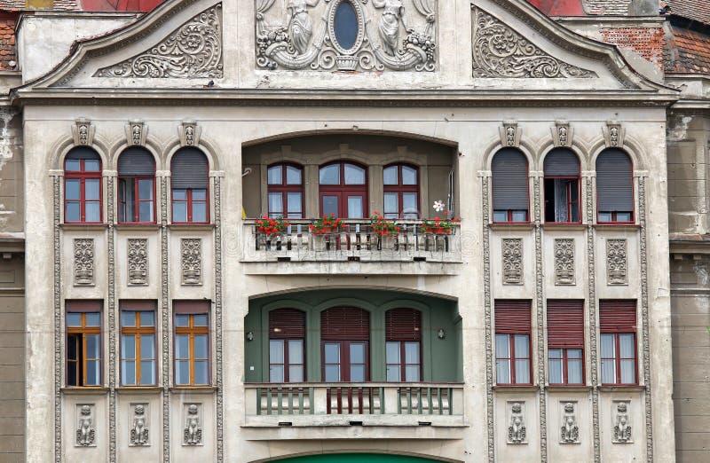 Detalhe exterior de construção Timisoara Romênia imagens de stock royalty free