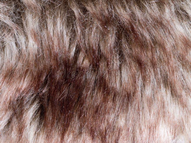 Detalhe falsificado da pele Marrom e branco vermelhos fotografia de stock