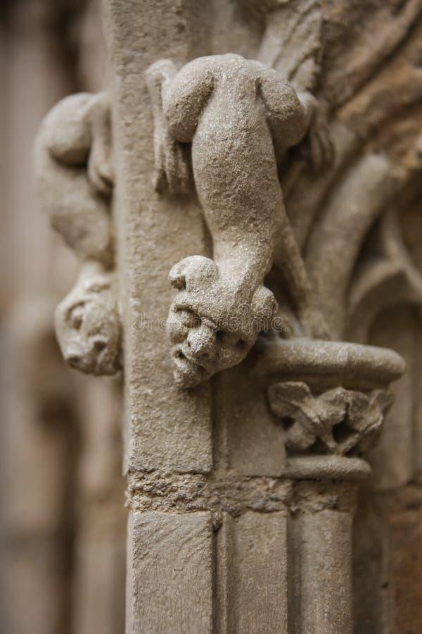 Detalhe gótico da igreja fotos de stock