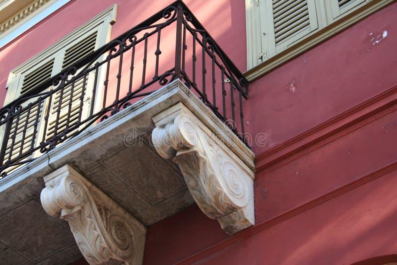 Detalhe grego velho da casa foto de stock royalty free