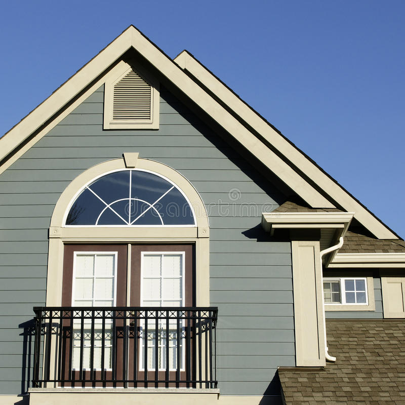 Detalhe Home da casa imagens de stock royalty free