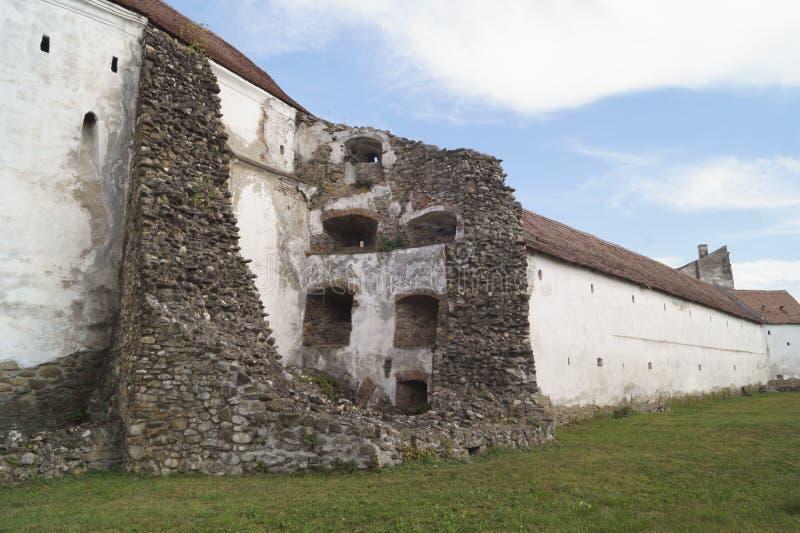 Detalhe - igreja fortificada Evangelical de Prejmer, Brasov, a Transilvânia, Romênia imagem de stock royalty free