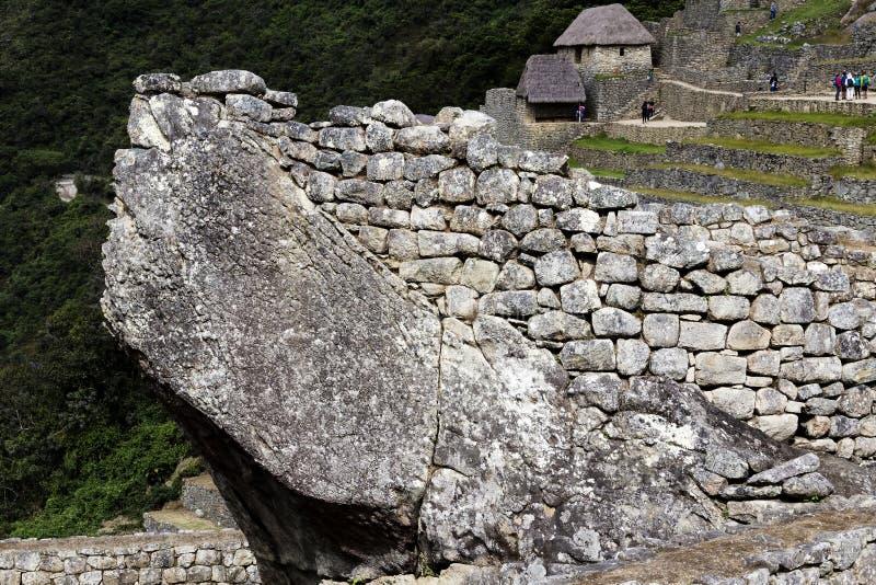 Detalhe Inca Ruins Machu Picchu Peru Ámérica do Sul da arquitetura fotografia de stock royalty free