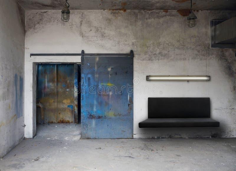 Detalhe industrial da sala de visitas imagens de stock