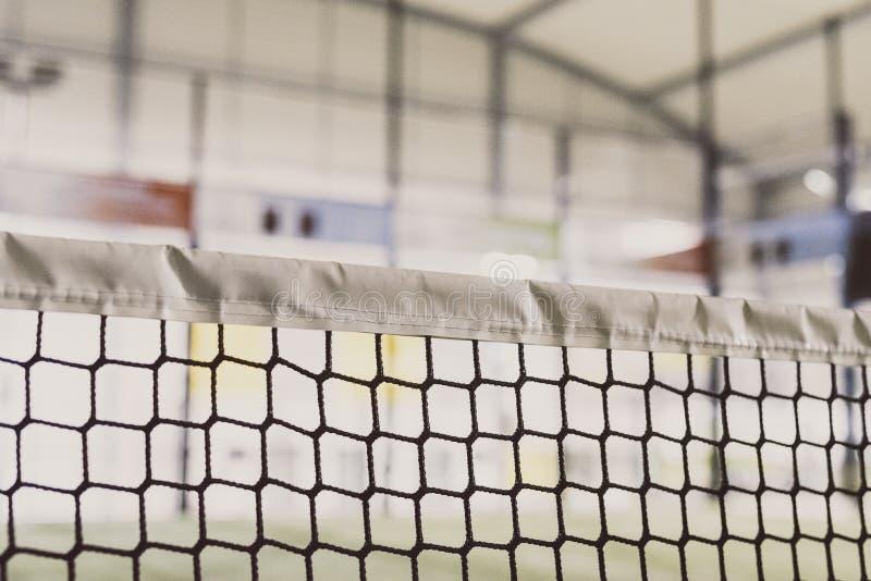 Detalhe líquido do campo de tênis da pá imagens de stock royalty free