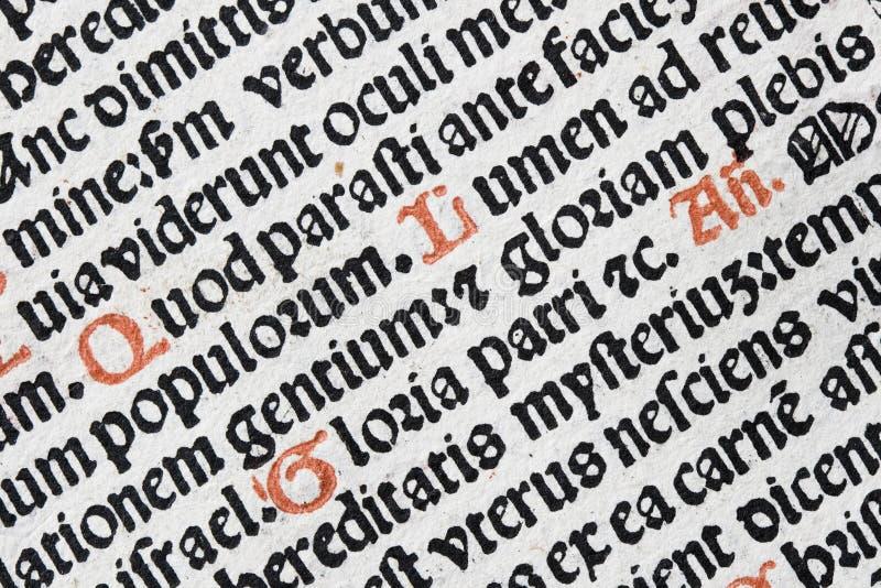 Detalhe Latin do texto fotos de stock royalty free