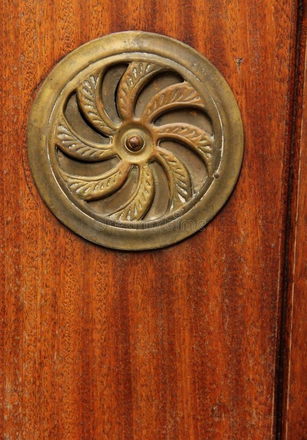Detalhe místico da porta foto de stock royalty free