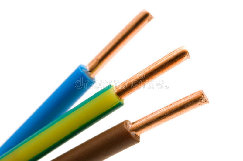 Detalhe macro de um cabo imagens de stock