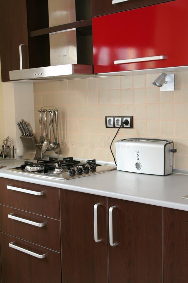 Detalhe moderno da cozinha fotos de stock