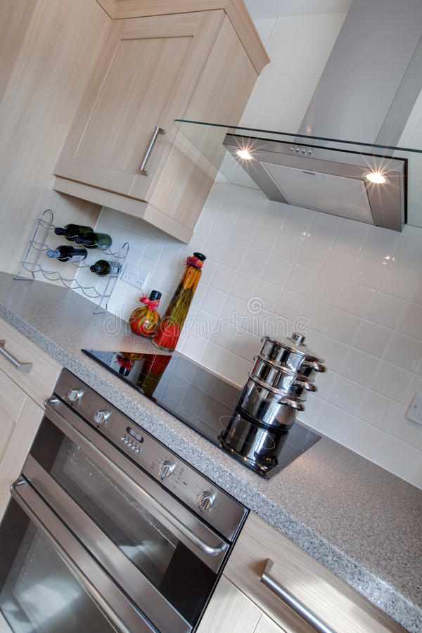 Detalhe moderno da cozinha imagens de stock