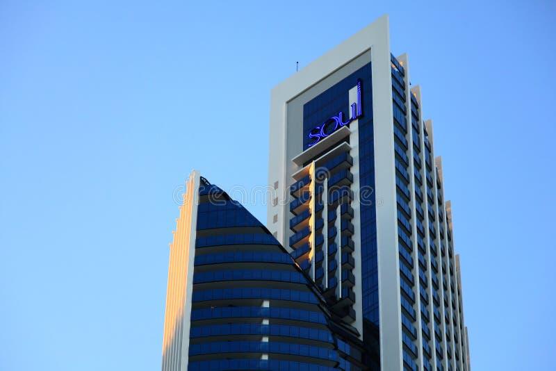 Detalhe moderno da torre da arquitetura foto de stock