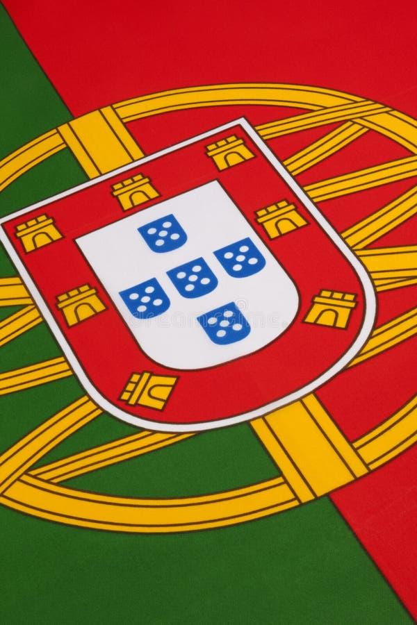 Detalhe na bandeira de Portugal imagem de stock royalty free
