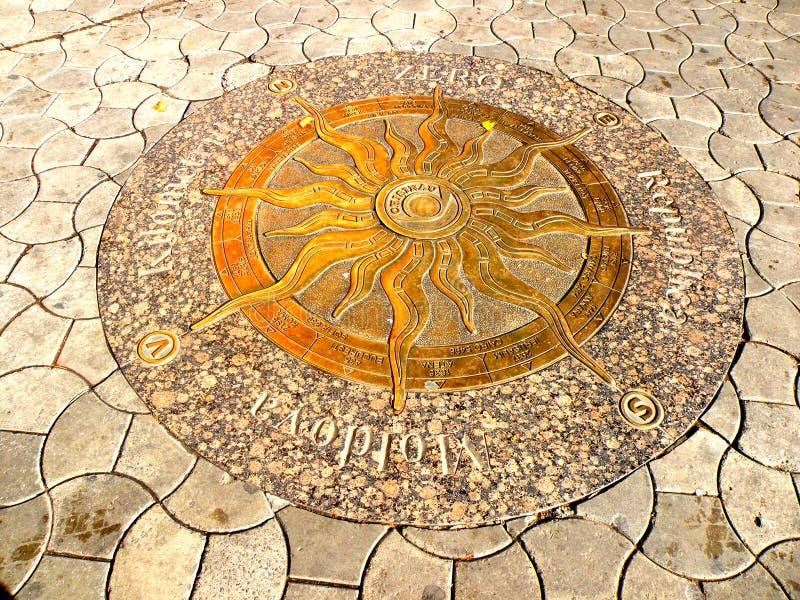 Detalhe no Central Park em Chisinau, Moldávia, Moldova fotografia de stock