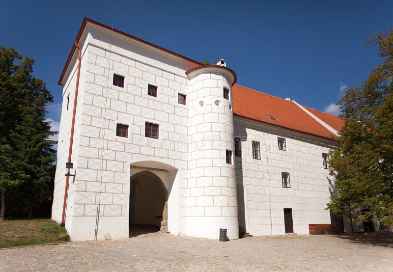 Detalhe o exterior do monastério de Trebic, local do UNESCO imagem de stock royalty free