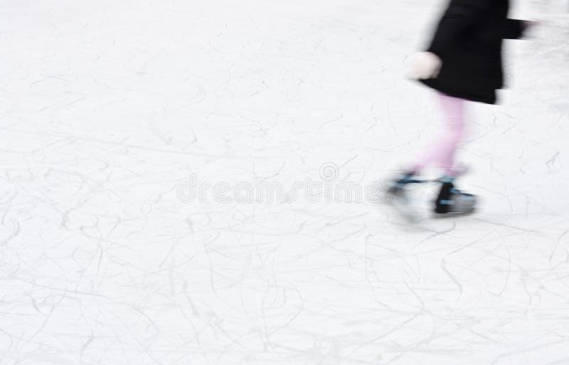 Detalhe obscuro da patinagem no gelo dos Arty imagens de stock royalty free